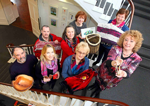 Waterford Homecrafts Christmas Craft fair members. Photograph courtesy of Noel Browne.