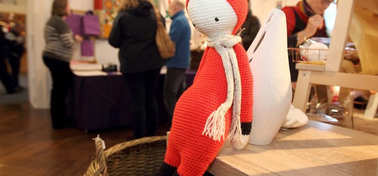 Crochet doll at the Waterford Crafts 35th Christmas Craft Fair in the Garter Lane Arts Centre