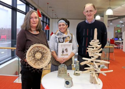 Cathy Hayden Basket weaver, Lisa Walsh Pebble Art and Driftwood Art, Greg Ashe Ceramics