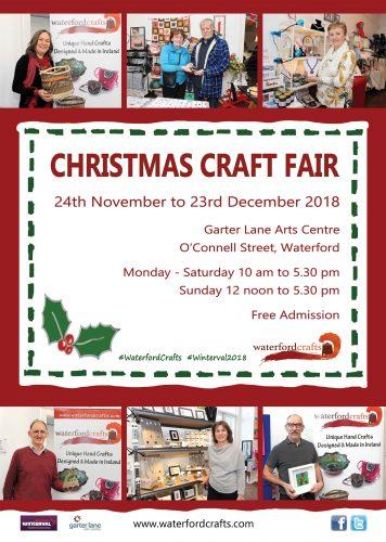 Waterford Crafts Christmas Craft Fair Garter Lane arts Centre.